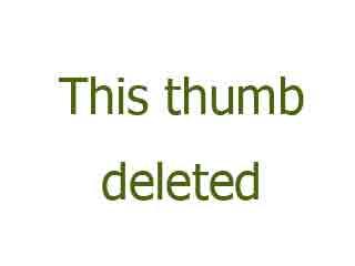 Tall and leggy nympho in knee socks masturbates like crazy